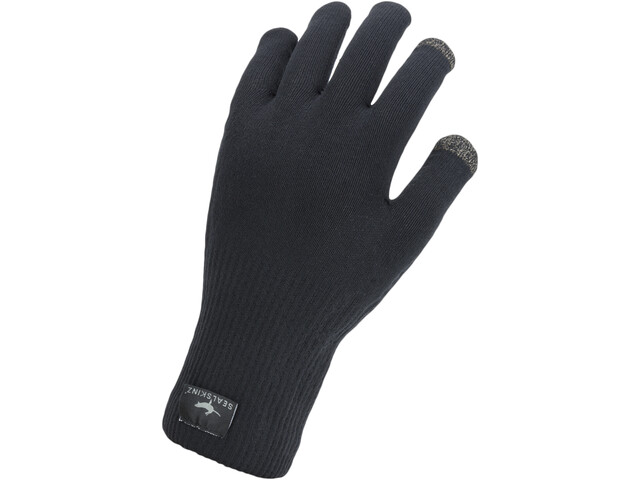 Sealskinz Waterproof All Weather Ultra Grip Guanti in maglia, black
